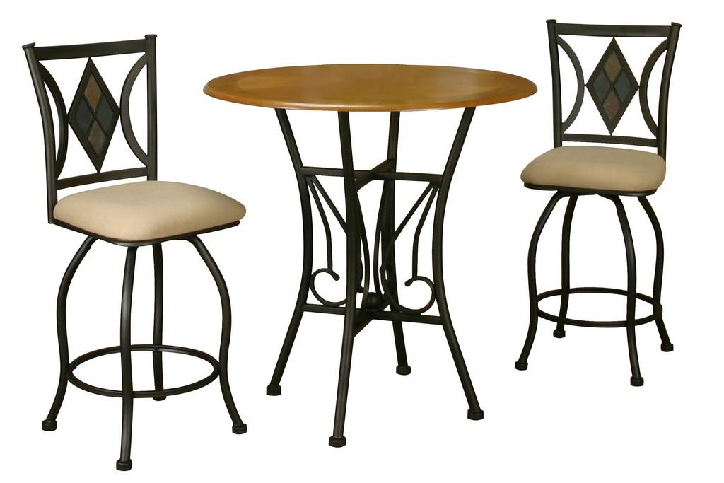 Sunset Trading 3 Piece Dart Pub Table Set - Sunset Trading CR-Y2091-3PC