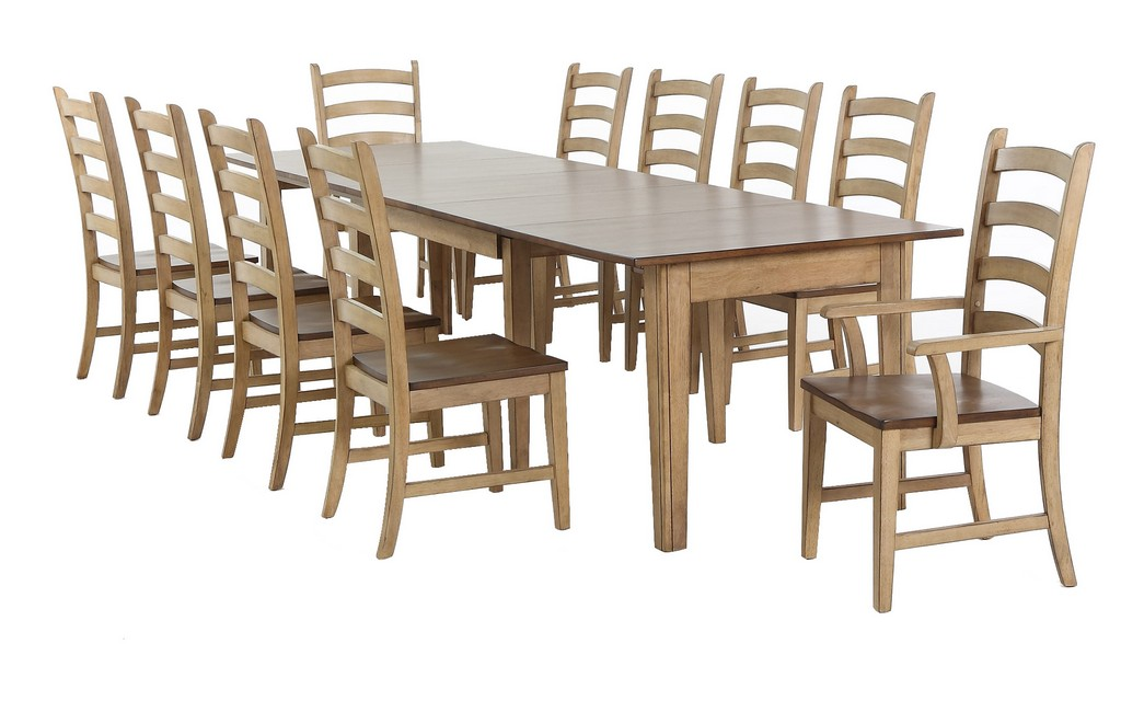 Rectangular Extendable Dining Setwith Arm Chairs