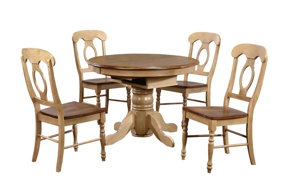 Round Or Oval Leaf Dining Set Napoleon Chairs