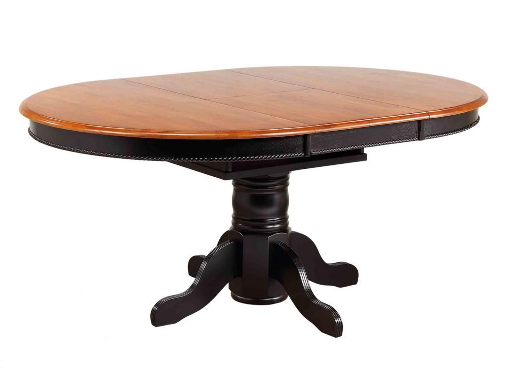 Sunset Black Cherry Pedestal Dining Table Antique Black Cherry Top