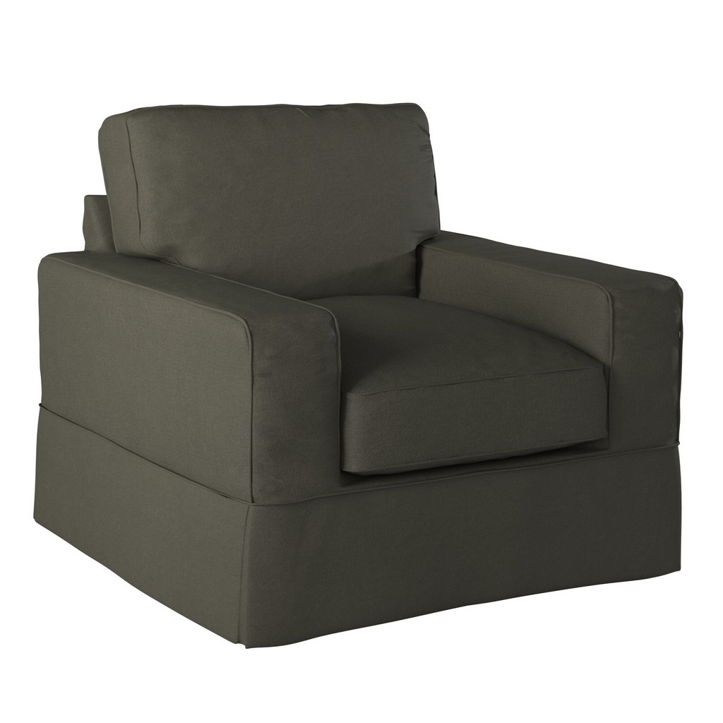 Sunset Trading Americana Slipcover for Box Cushion Track Arm Chair In Forest Green - Sunset Trading SU-108520SC-410026