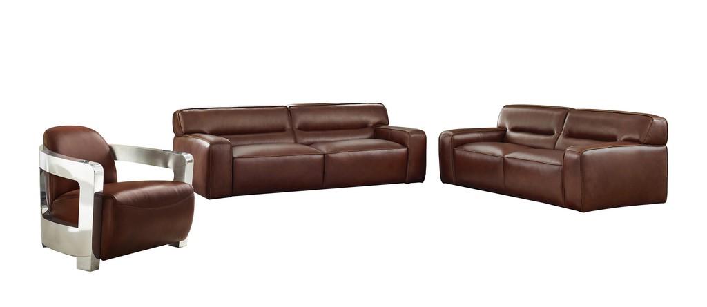 Sunset Leather Living Room Set Sofa Loveseat Aviator Chair