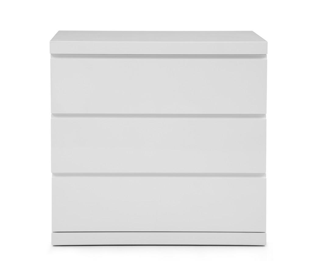Anna Dresser Single High Gloss White Full Self Close Runners - Whiteline Modern Living DR1207S-WHT