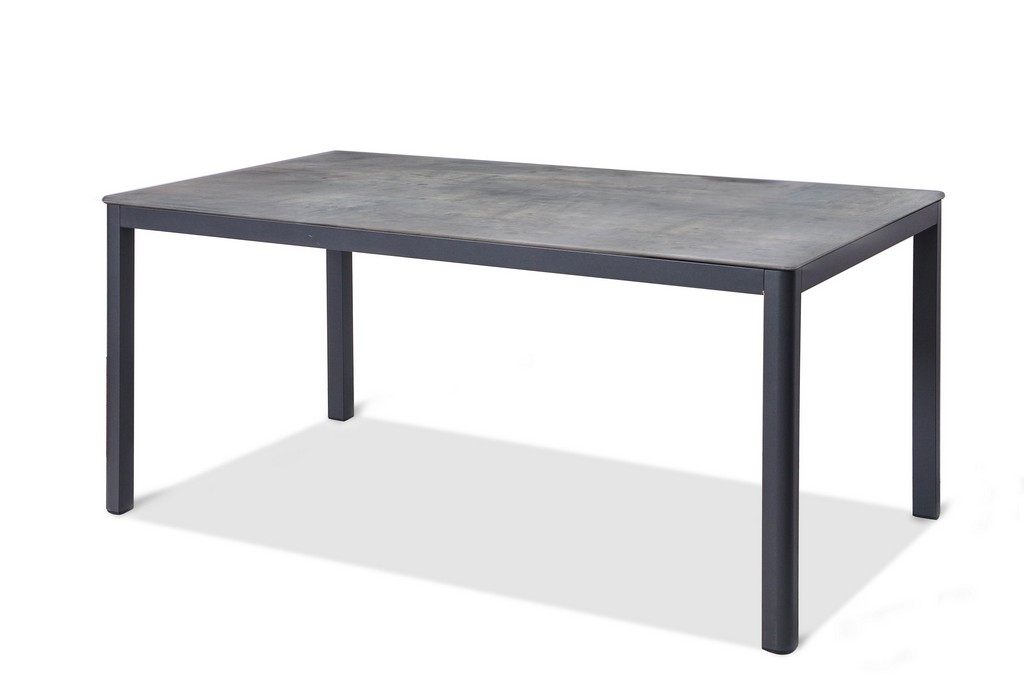 """Anabel Indoor / Outdoor Dining Table, Grey Aluminium, Size: W63"""" D355"""" H29"""" Top:Toplit Top,Smart Line - Whiteline Modern Living DT1675-GRY"""