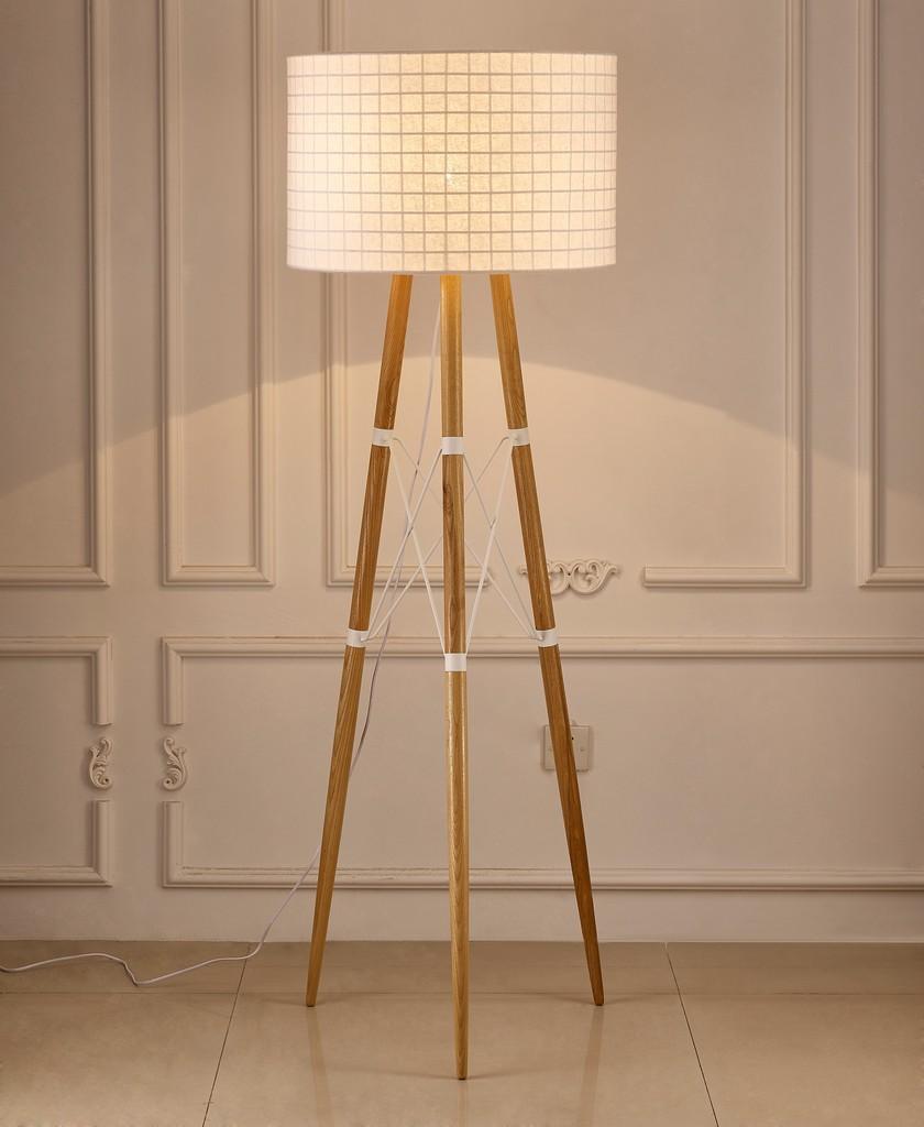 Amber Floor Lamp White - Whiteline Modern Living FL1486-WHT