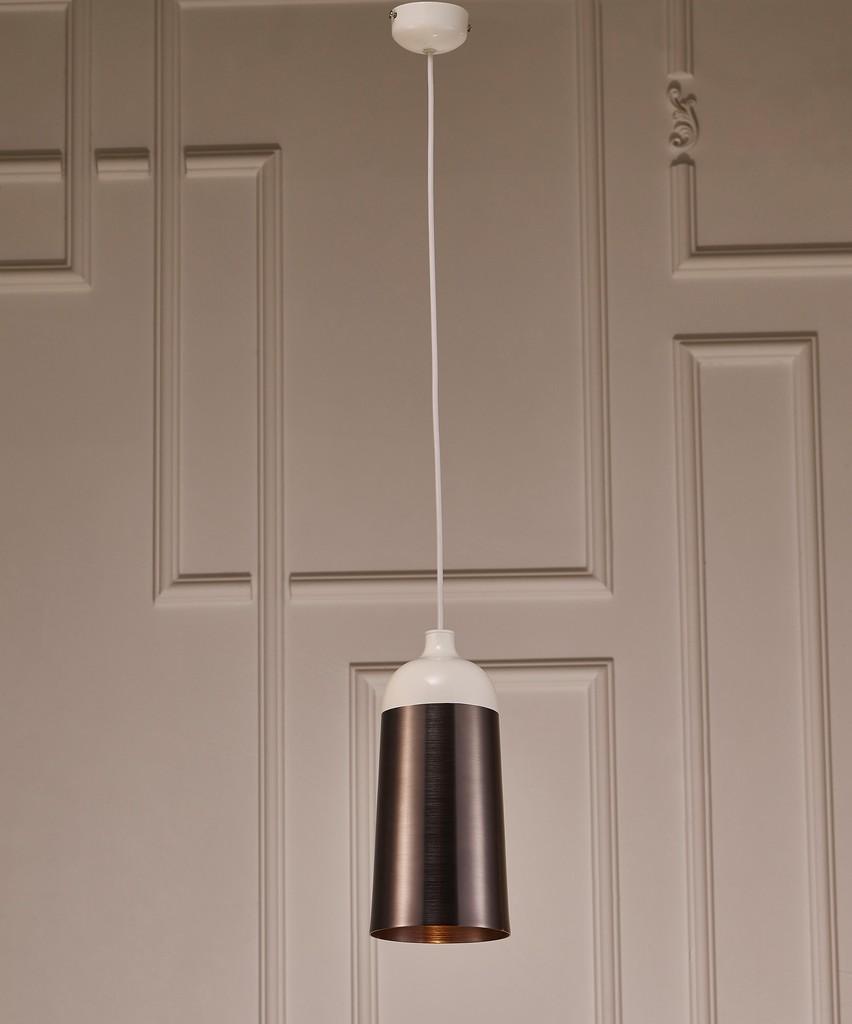 Abel Pendant Lamp, Silver And White Aluminium - Whiteline Modern Living PL1483-SLV/WHT