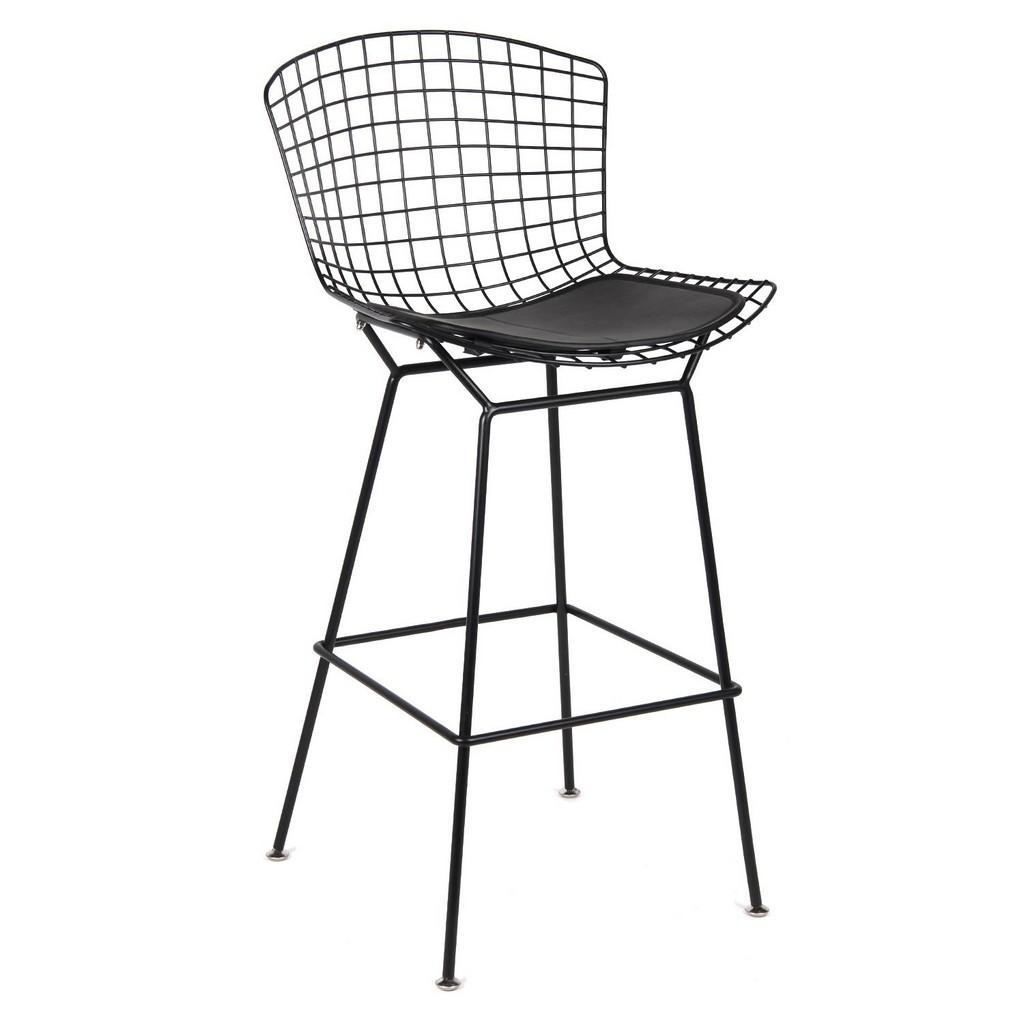 Fine Mod Imports Black Wire Counter Chair In Black - FMI10296-BLACK