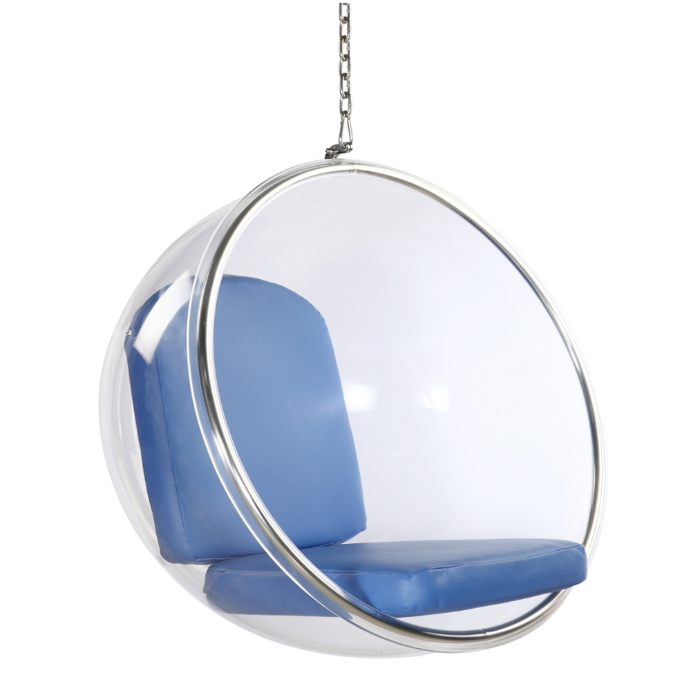 Fine Mod Imports Bubble Hanging Chair In Blue - FMI1122-BLUE