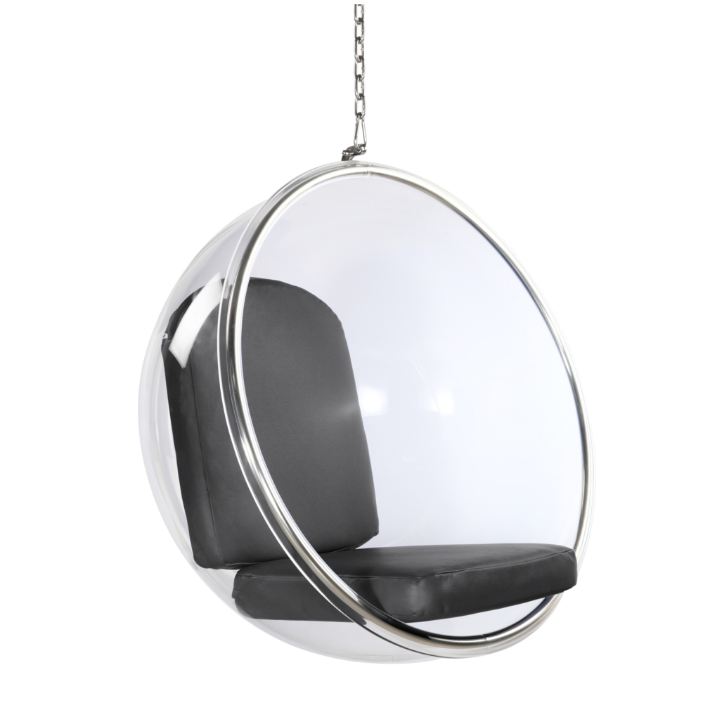 Fine Mod Imports Bubble Hanging Chair In Gray - FMI1122-GRAY