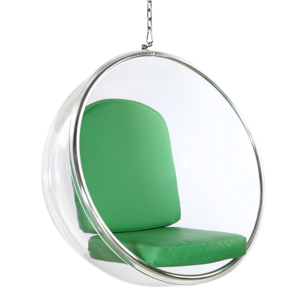 Fine Mod Imports Bubble Hanging Chair In Green - FMI1122-GREEN