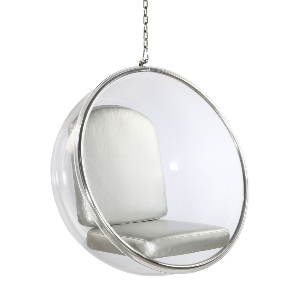 Fine Mod Imports Bubble Hanging Chair In Silver - FMI1122-SILVER