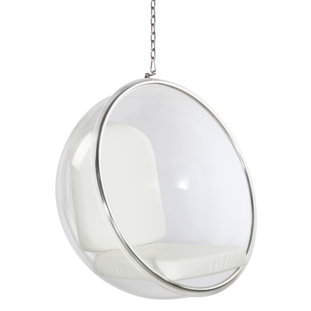Fine Mod Imports Bubble Hanging Chair In White - FMI1122-WHITE