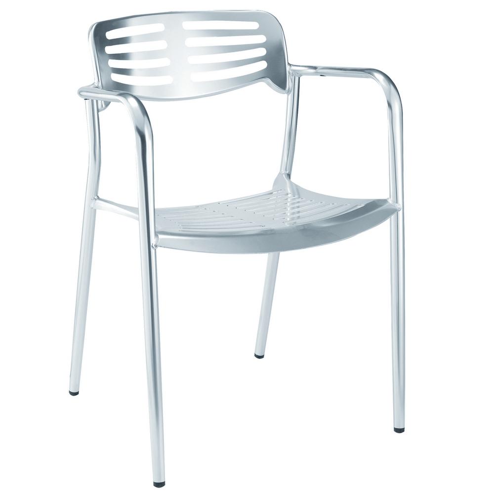 Fine Mod Imports Aluminum Dining Chair In Aluminum - FMI1142-ALUMINUM