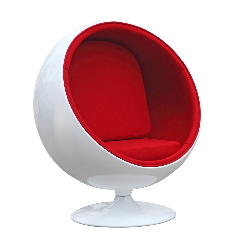 Fine Mod Imports Ball Chair In Red - FMI1150-RED