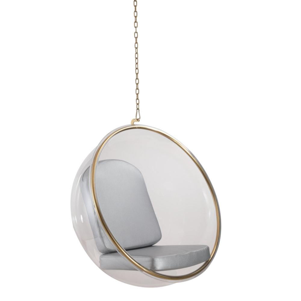 Fine Mod Imports Bubble Hanging Chair In Silver - FMI162329-SILVER