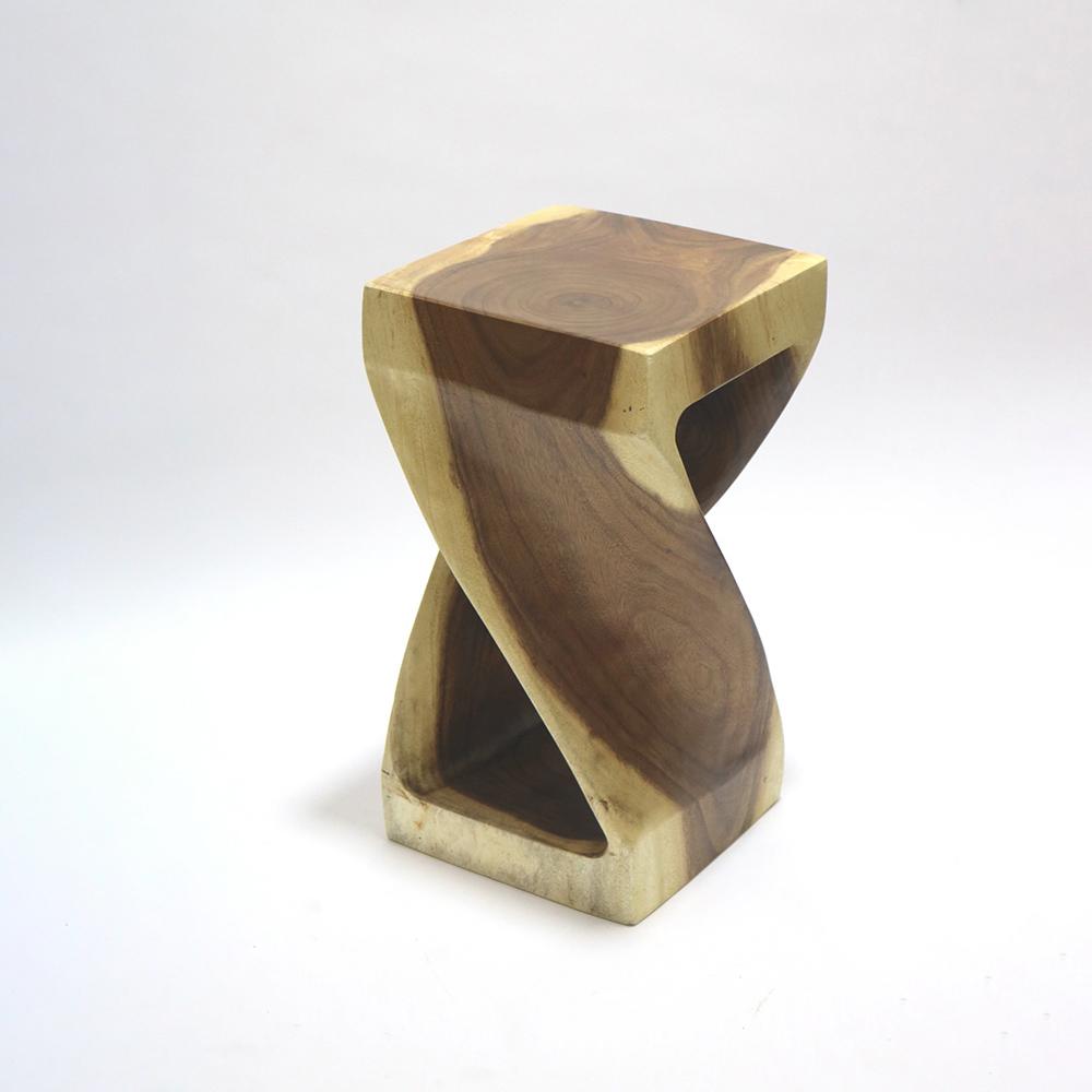 Fine Mod Imports Block Stool Solid Wood In Walnut - FMI62323-WALNUT
