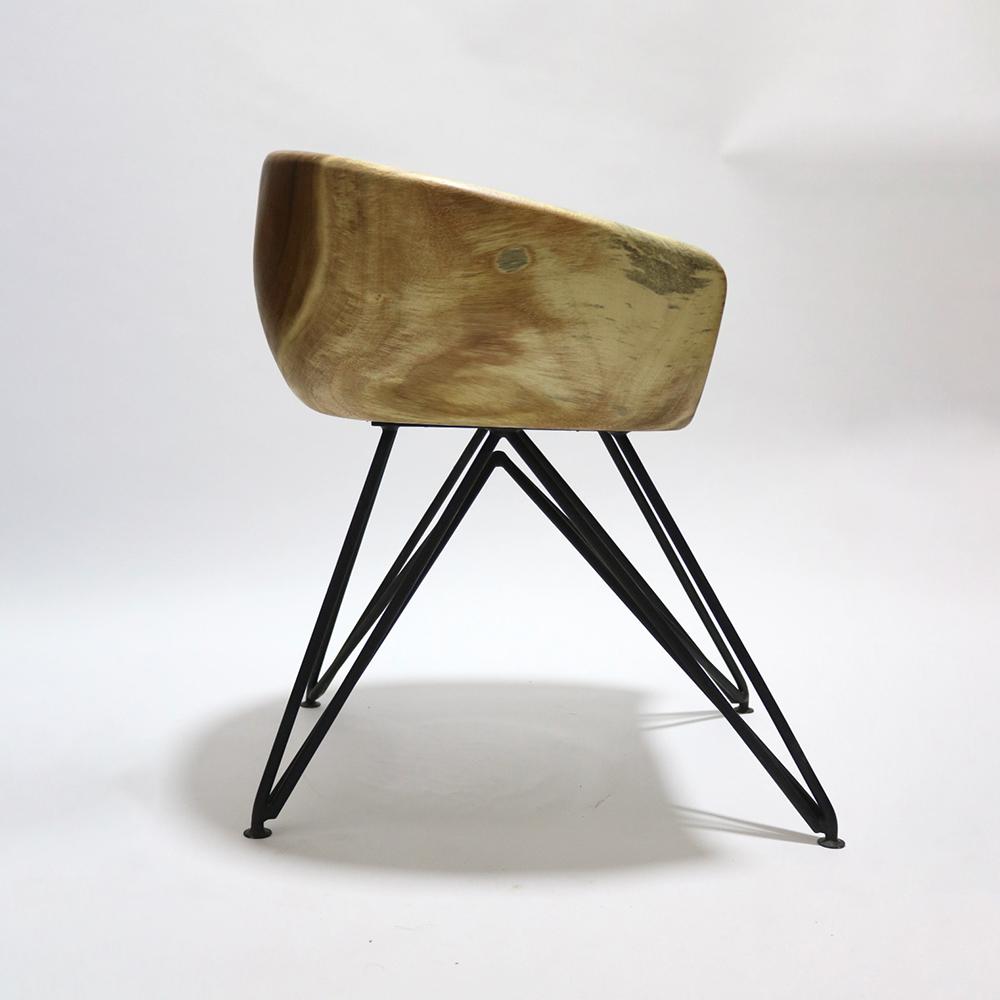 Fine Mod Imports Block Dining Chair Solid Wood In Walnut - FMI62325-WALNUT