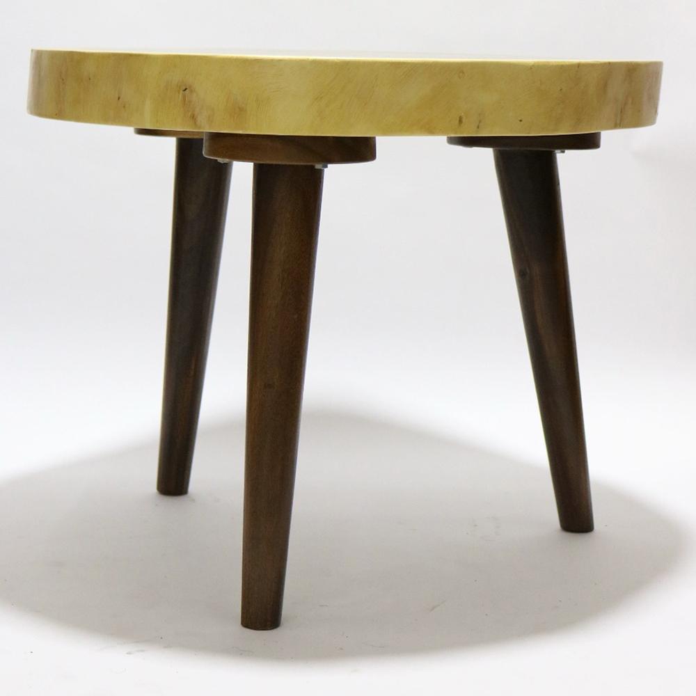 Fine Mod Imports Block End Coffee Table Solid Wood In Walnut - FMI62326-WALNUT
