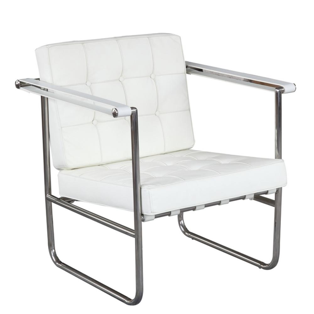 Fine Mod Imports Celona Chair In White - FMI9247-WHITE