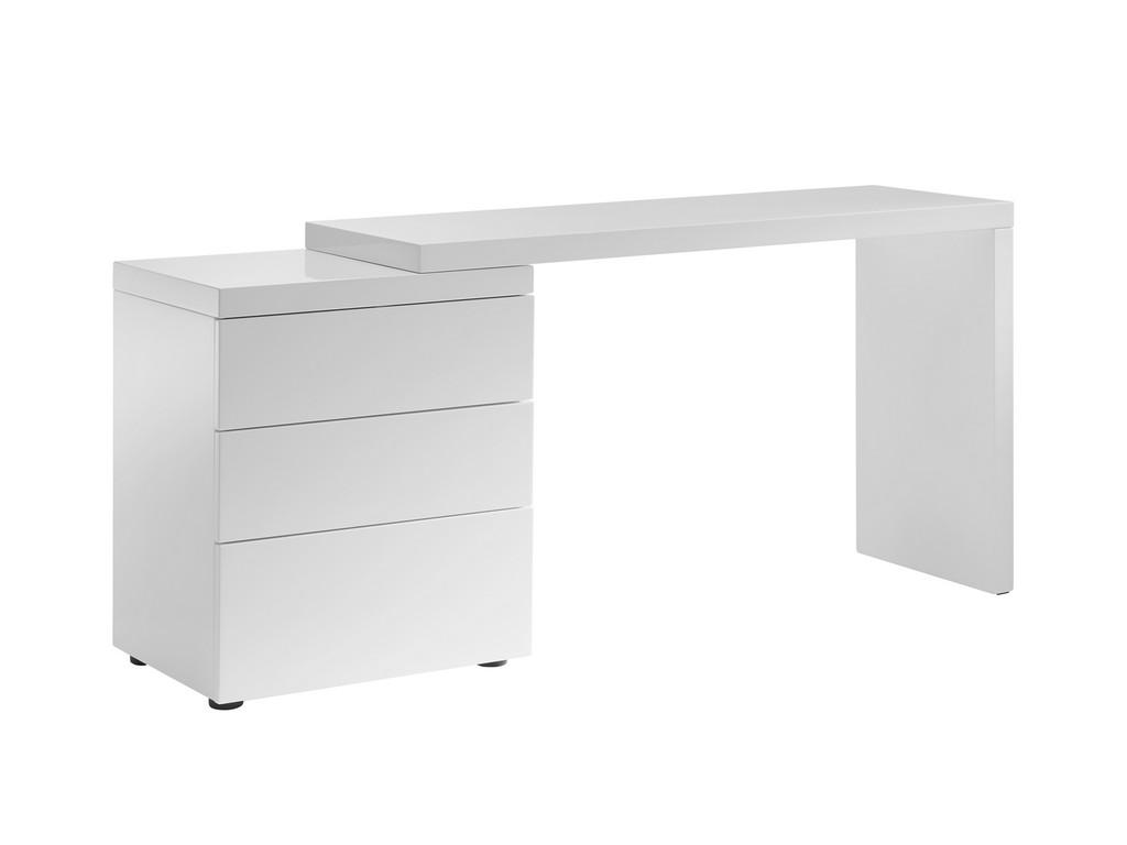 Nest Office Desk High Gloss White Lacquer Casabianca