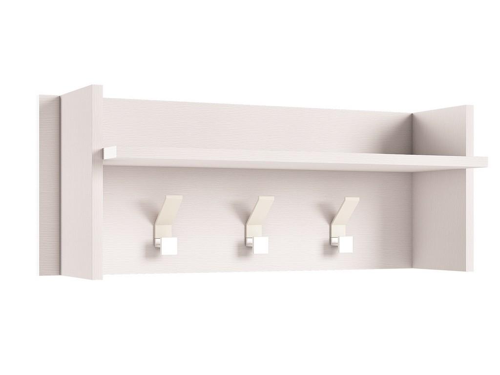 BEL AIR wall hook in white wood grain melamine - Casabianca KD-I231W