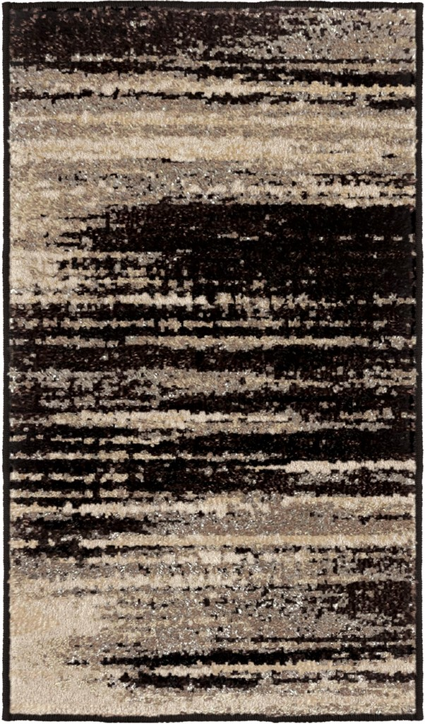 American Heritage Interference Black Accent Rug - Orian Rugs AHS/BLSL/81BA/052X087