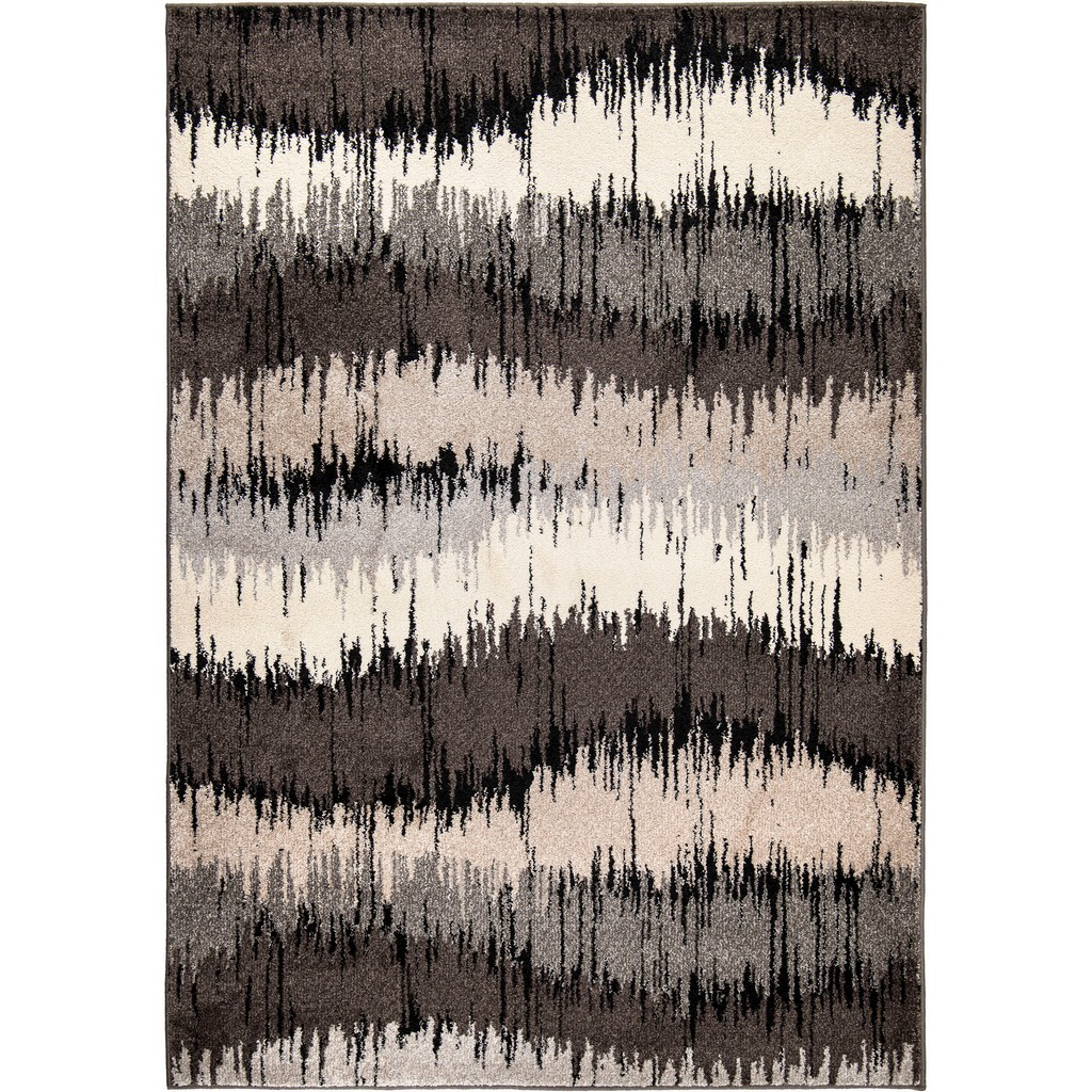 American Heritage Brushed Waves Grey Area Rug - Orian Rugs AHS/BRUW/81GE/160X230