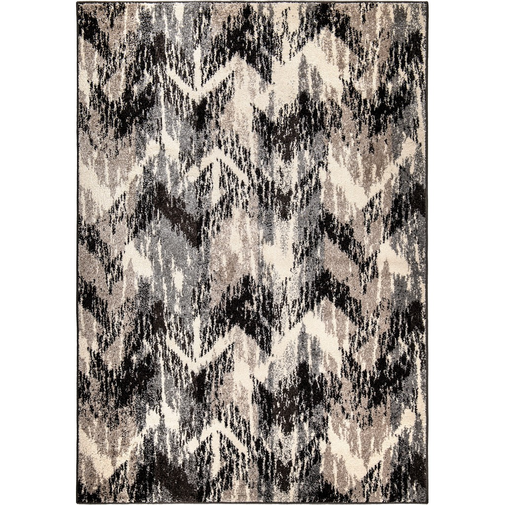 American Heritage Distressed Chevron Gray Area Rug - Orian Rugs AHS/DICH/81GE/160X230