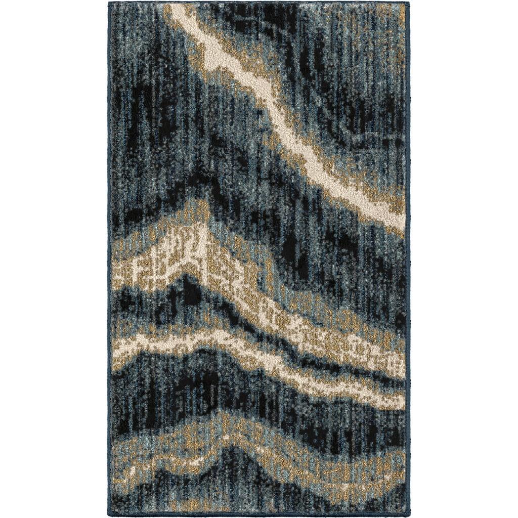 American Heritage Impressionist Stone Indigo Accent Rug - Orian Rugs AHS/MIMB/82IN/077X112