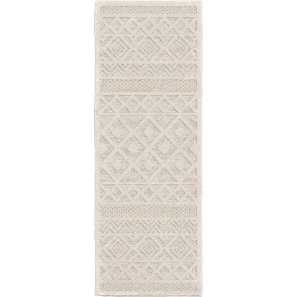 Boucle Indoor/Outdoor Coastal Diamond Natural Area Rug - Orian Rugs BCL/CODM/40NT/061X230