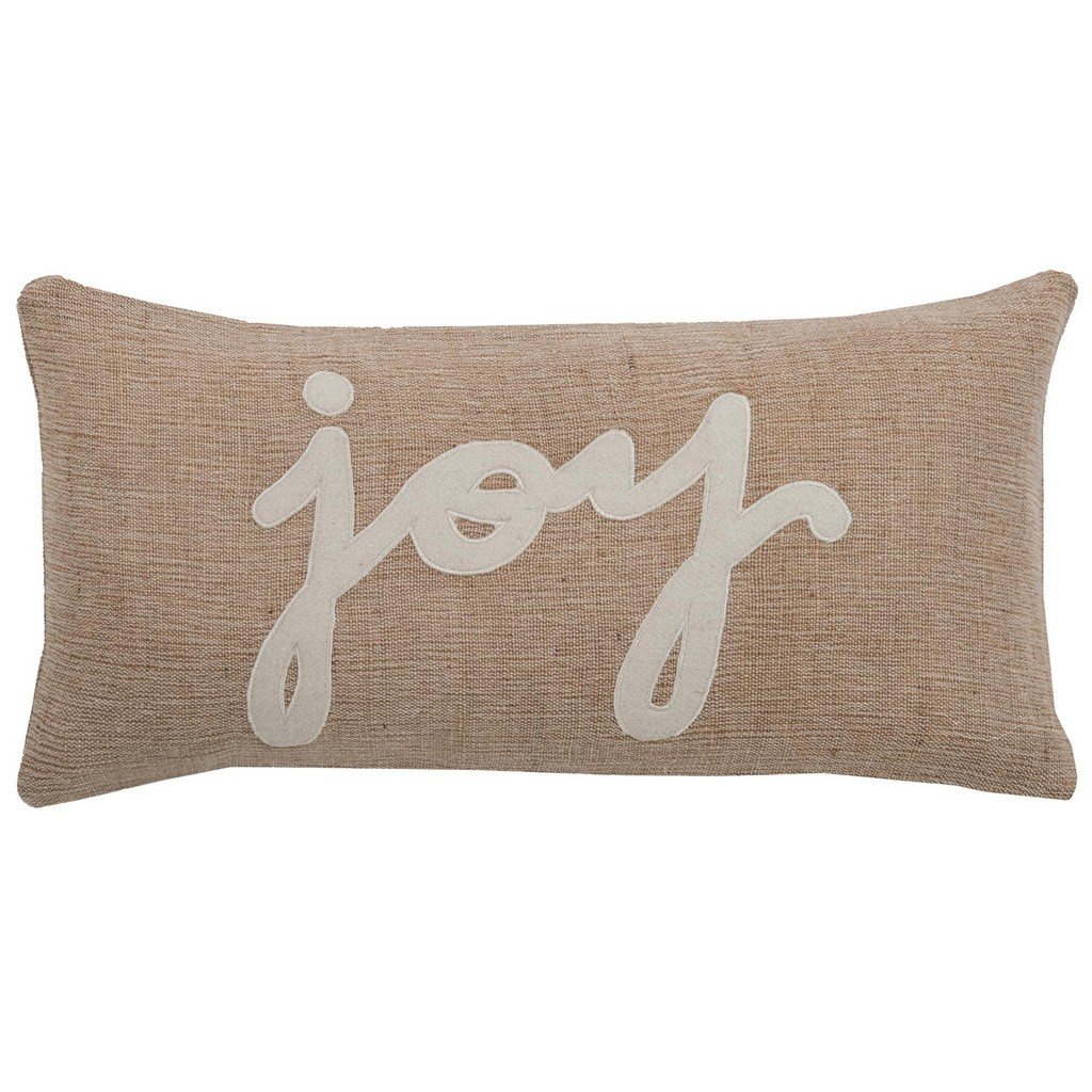 """11"""" x 21"""" Pillow Cover - Rizzy Home COVT06152BEWH1121"""