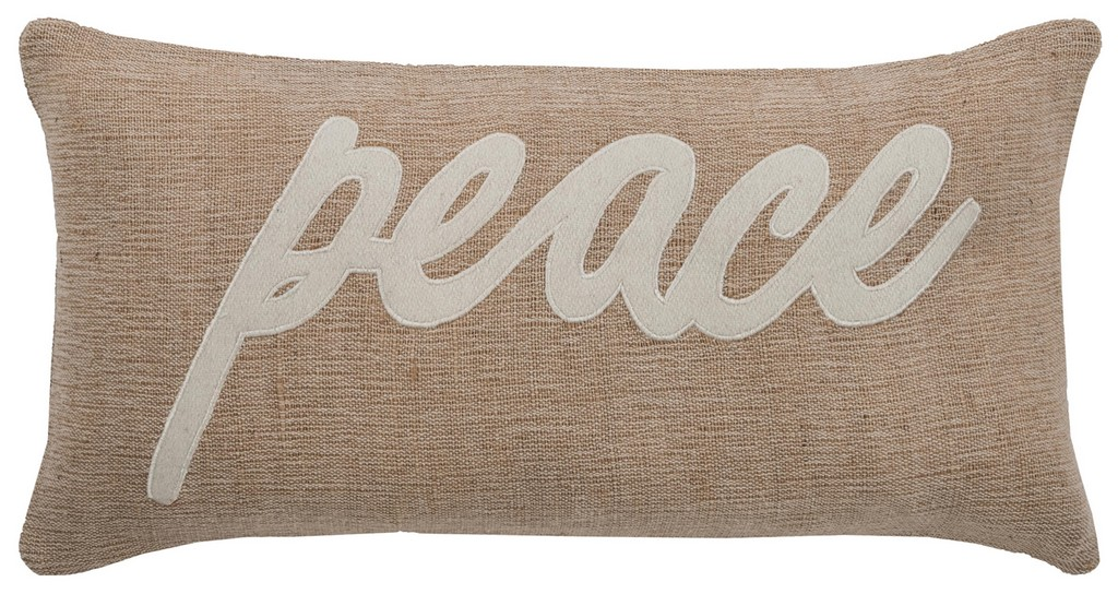 """11"""" x 21"""" Pillow Cover - Rizzy Home COVT06154BEWH1121"""