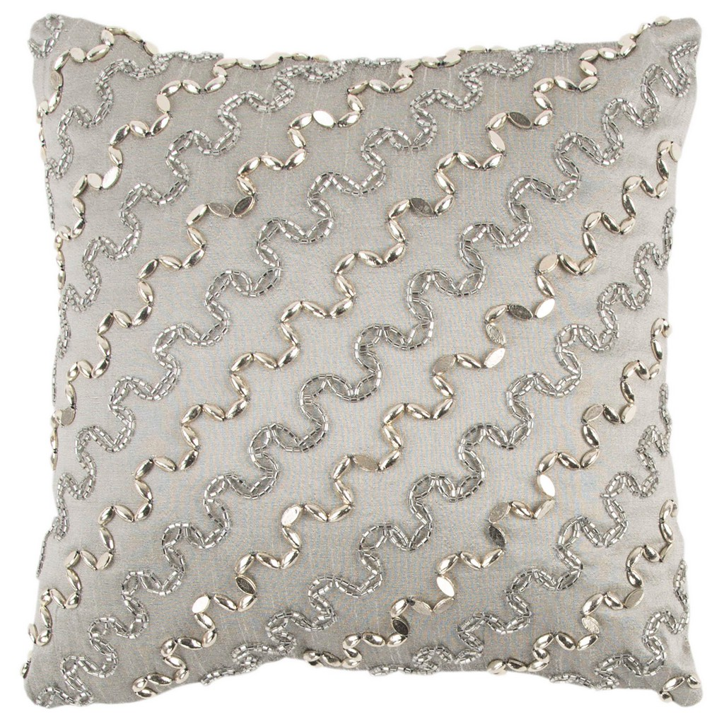 """12"""" x 12"""" Pillow Cover - Rizzy Home COVT13123GYSV1212"""