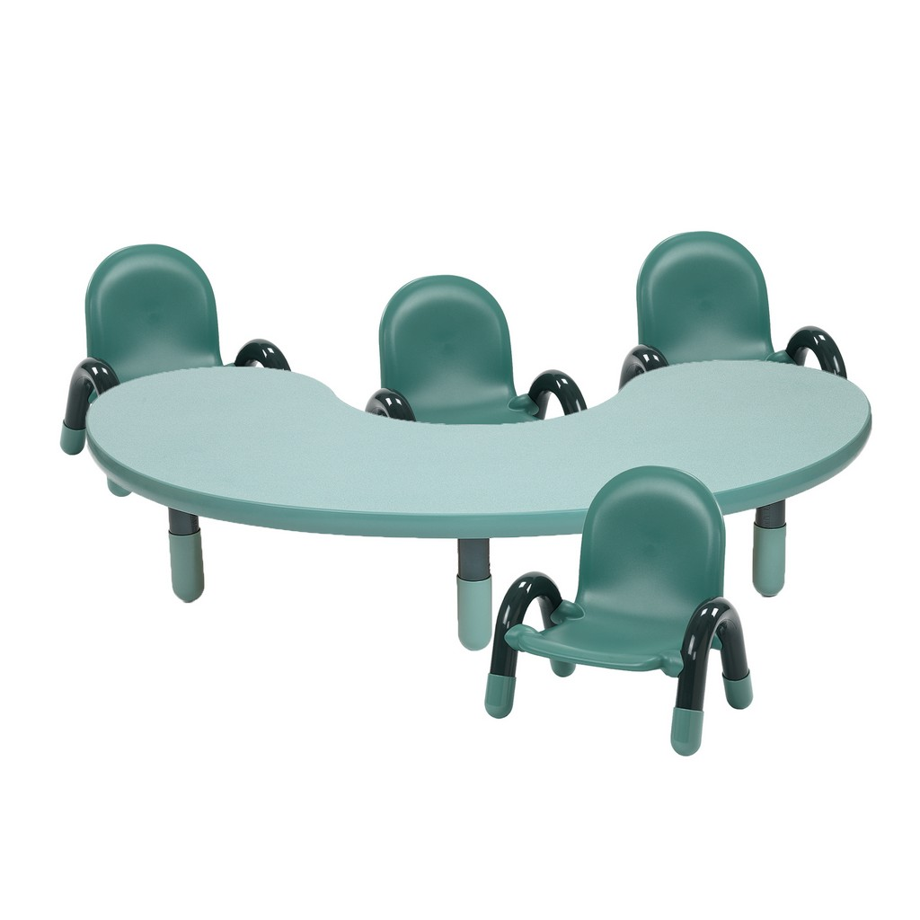 Childrens Factory Baseline Toddler Kidney Table Chair Set Teal Green