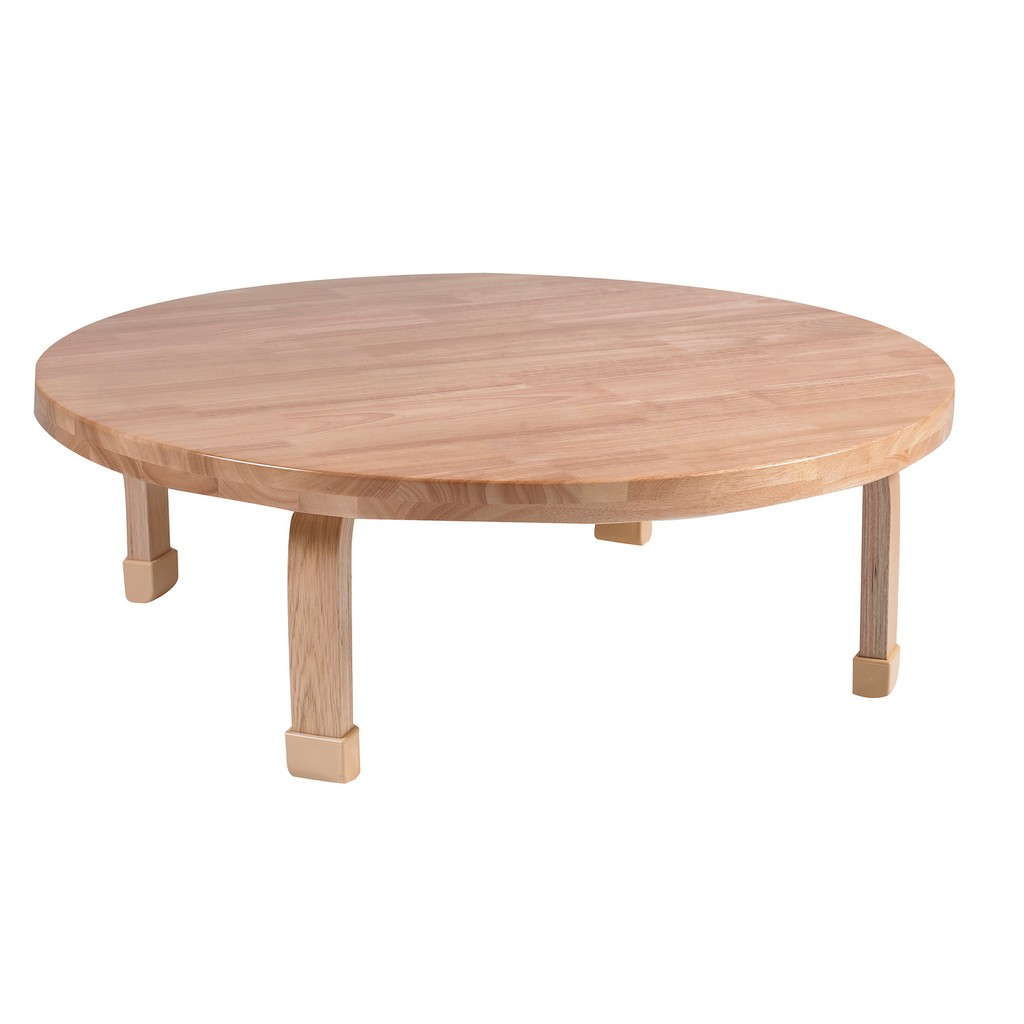 "36"" Dia Round NaturalWood Table Top with 12"" Legs - Children"