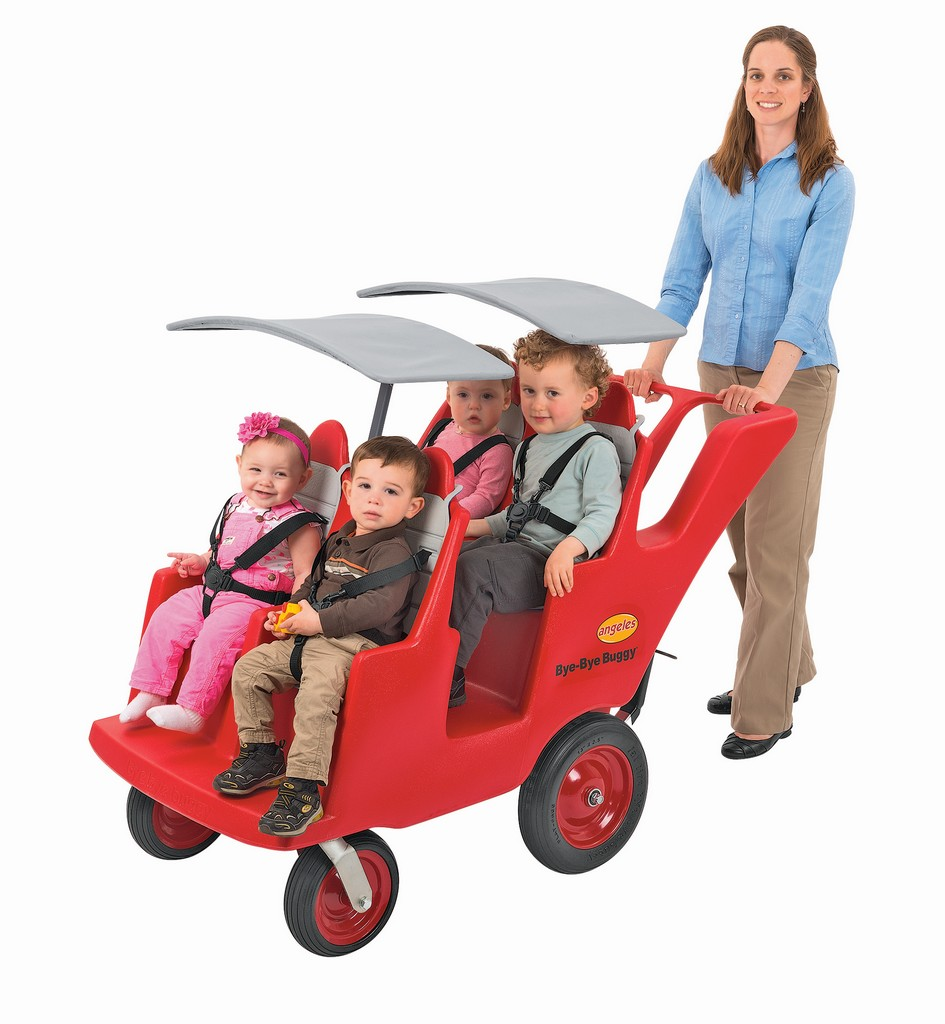 "4 Passenger Never Flat ""Fat Tire"" Red/Gray Bye Bye Buggy - Children"