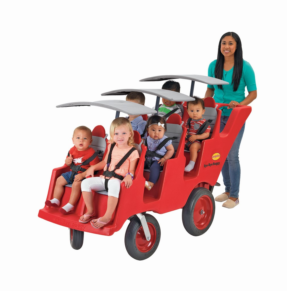 "6 Passenger Never Flat ""Fat Tire"" Red/Gray Bye Bye Buggy - Children"