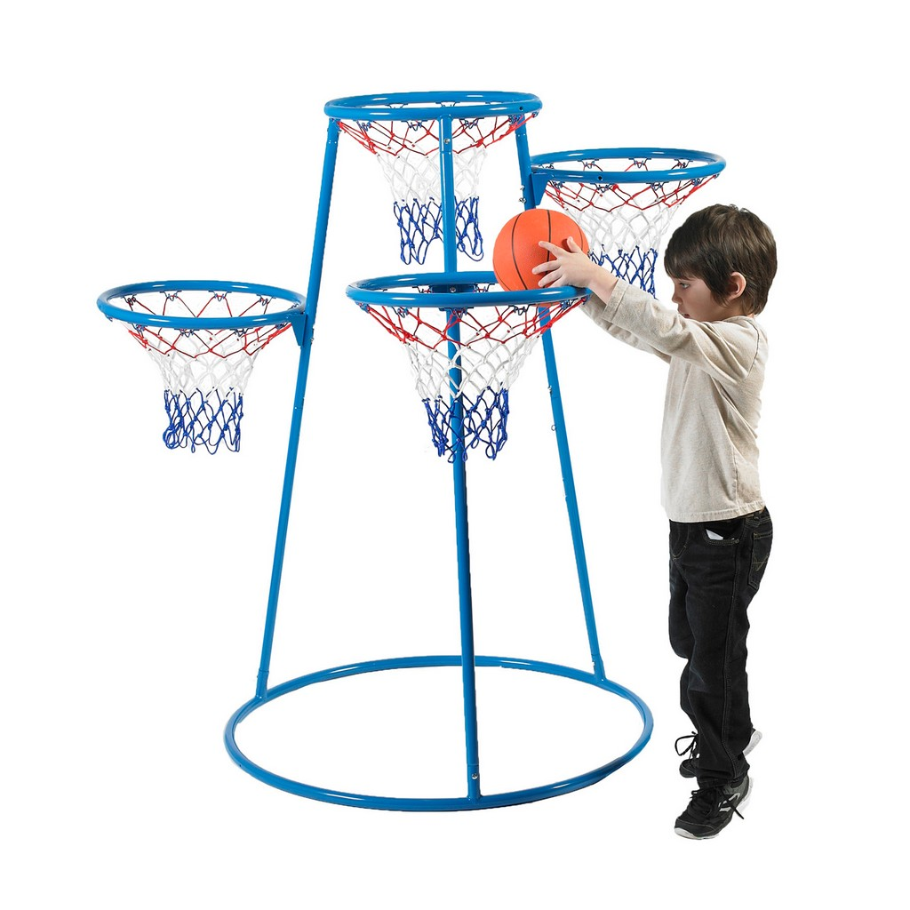 4-Rings Basketball Stand with Storage Bag - Children