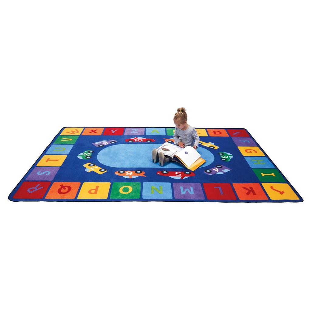 Alphabet Cars - Rectangle Large - Children