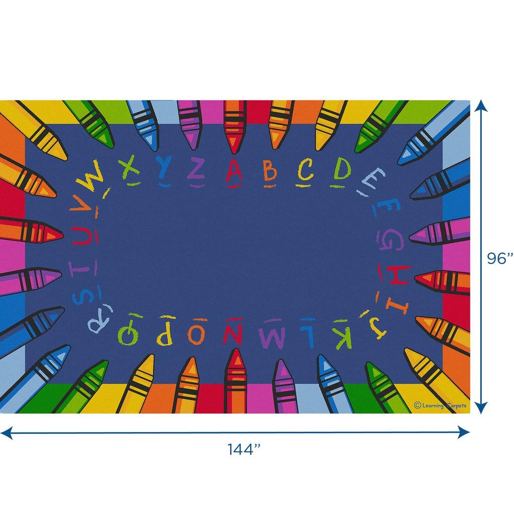 Alphabet Crayon - Rectangle Large - Children