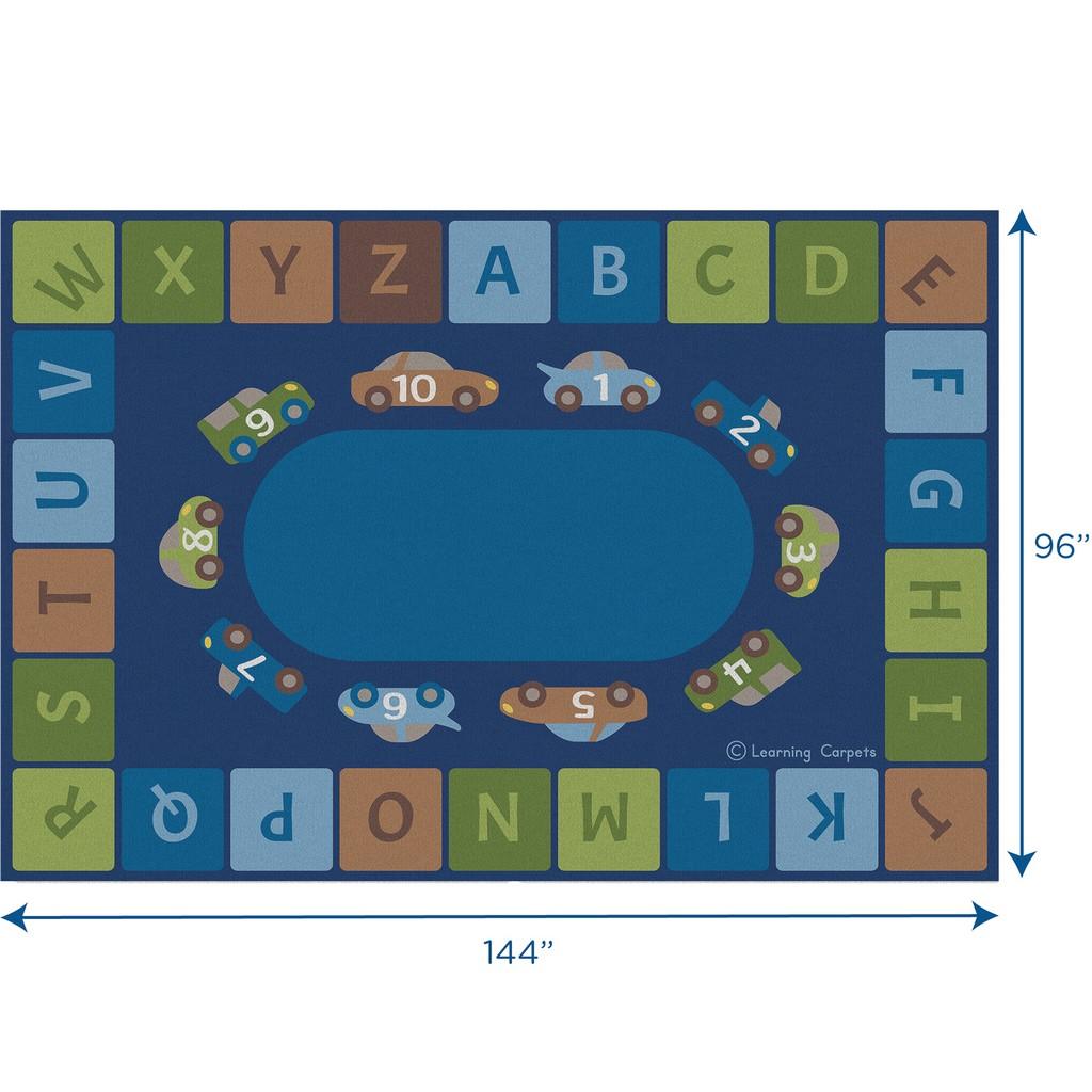 Alphabet Cars Woodtones - Rectangle Large - Children