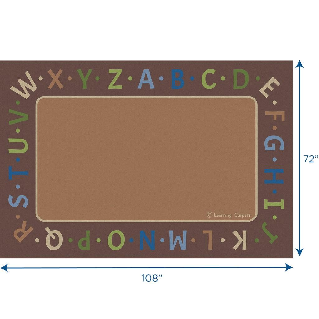 Alphabet Border Woodtones - Rectangle Small - Children