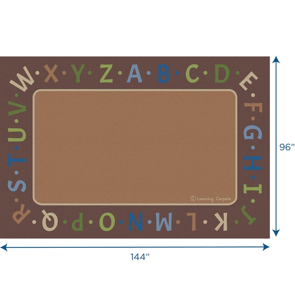 Alphabet Border Woodtones - Rectangle Large - Children