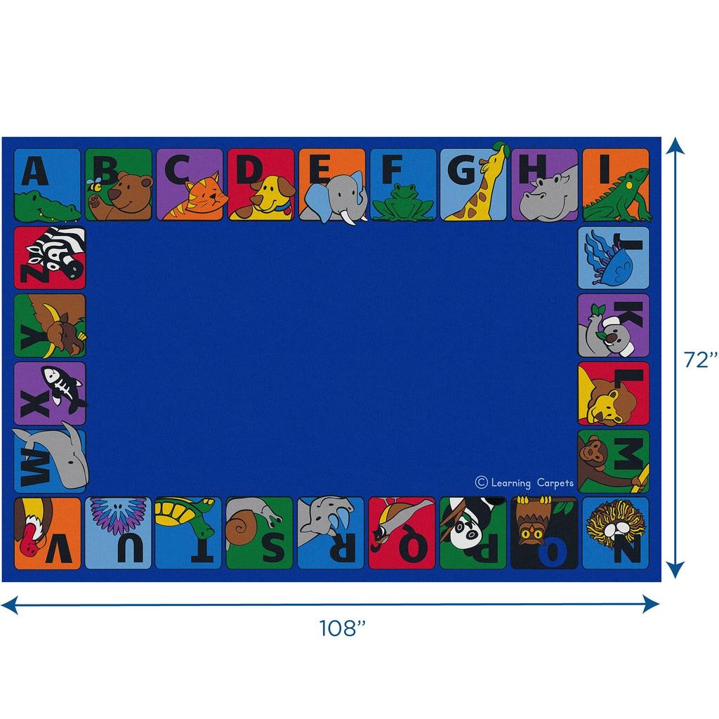 Alphabet Animals Border - Rectangle Small - Children