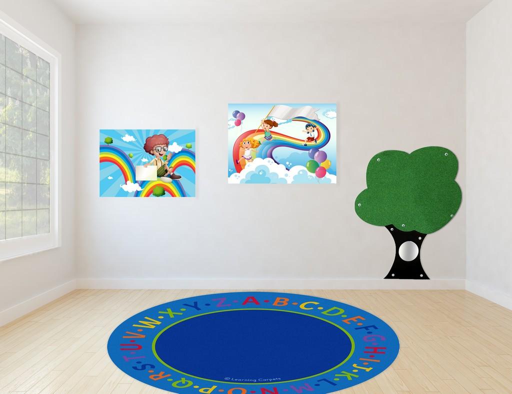 Alphabet Border - Round - Children
