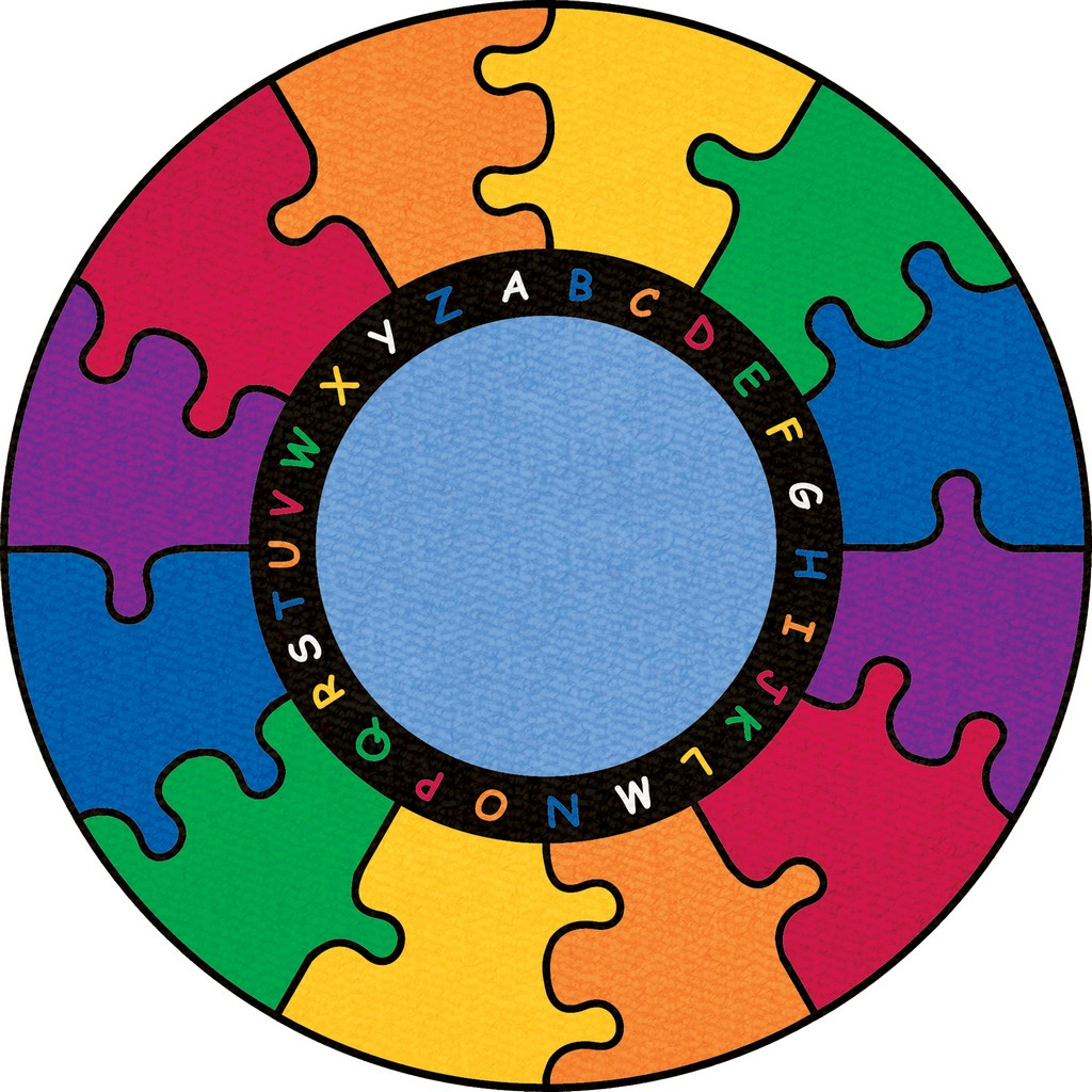 ABC Rainbow Puzzle - Round Small - Children