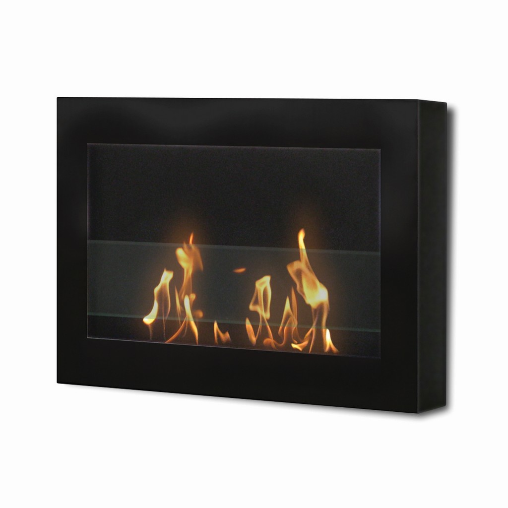 Anywhere Fireplace Indoor Wall Mount Fireplace - SoHo (black) Model - Anywhere Fireplace 90200