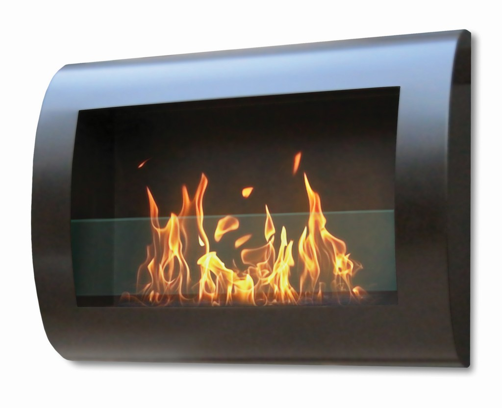 Anywhere Fireplace Indoor Wall Mount Fireplace - Chelsea Model Black - Anywhere Fireplace 90202