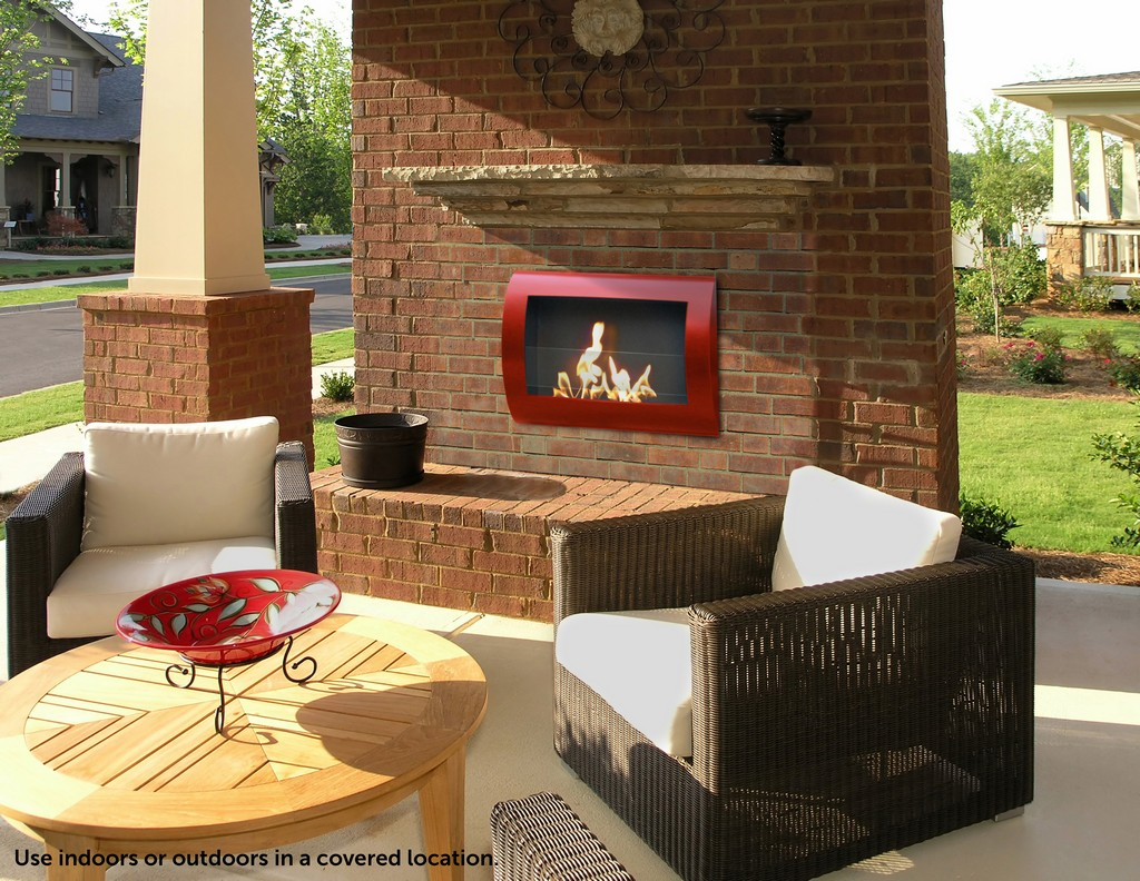 Anywhere Fireplace Indoor Wall Mount Fireplace - Chelsea (Red) Model - Anywhere Fireplace 90212