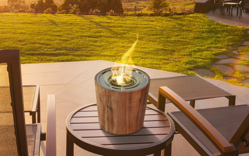 Anywhere Fireplace Indoor/Outdoor Fireplace - Sag Harbor Teak Fire Bowl - Anywhere Fireplace 90221